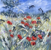 Summer Hedgerows with Poppies
