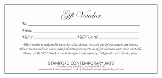 Gift Vouchers for Art Classes